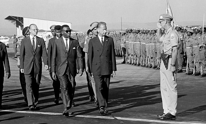 Dag Hammarskjöld on his last trip to the Congo
