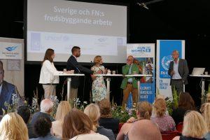Annika Schabbauer (Operation 1325); Efraim Gomez (UN Policy Department); Chris Coulter (Folke Bernadotte Academy); Aleksander Gabelic (UN Association-Sweden); Henrik Hammargren (Dag Hammarskjöld Foundation)