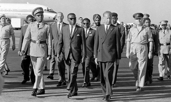 Dag Hammarskjöld arrives in Léopoldville on the 13 of September 1961, one of the last photos of Hammarskjöld.