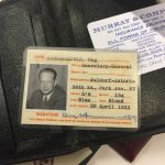 Dag Hammarskjöld's UN ID card found in his briefcase.