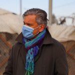 Dominik Bartsch at the Za'atari refugee camp in December 2020. Photograph courtesy of UNHCR Jordan.
