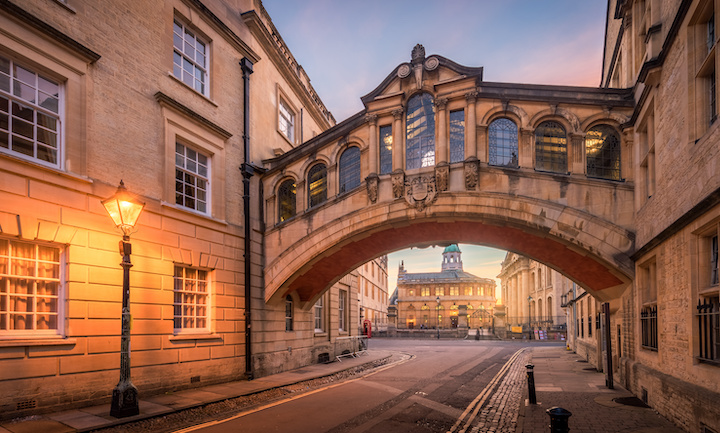 The Bridge of Sighs at the University of Oxford